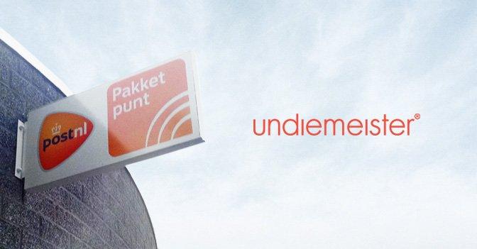 Undiemeister® tilføjer PostNL indsamlingspunkter