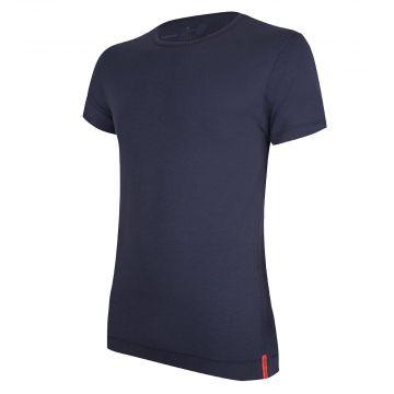 Blue T-shirt Round neck front