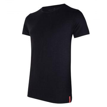 Black T-shirt Round Neck front