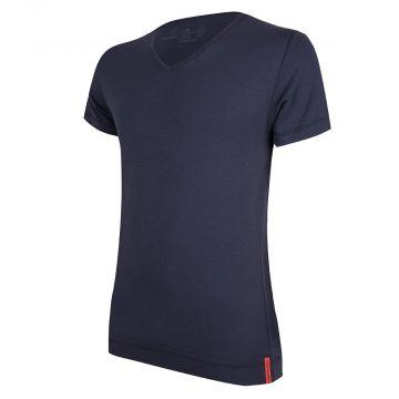 Blue T-shirt V-neck front