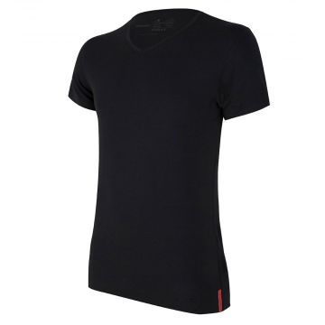 Black T-shirt V-Neck front